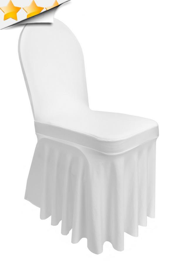 housse chaise blanche juponnage